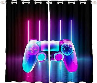 Feelyou Gamer Cortina térmica para juegos de niños, para recámara o adolescentes videojuegos Gamepad habitación oscurecimi...