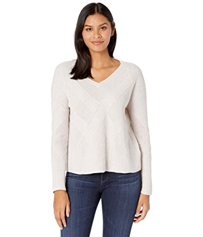 Smartwool Shadow Pine Cable V-Neck Sweater (Rainbow Donegal) Women