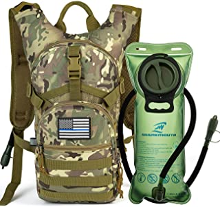 d218406cc0ae4 SHARKMOUTH Tactical MOLLE Hydration Pack Backpack 900D with 2L Leak-Proof  Water Bladder