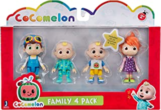 Cocomelon Friends & Family, 4 Figure Pack - 3 Inch Character Toys - Features Two Baby JJ Figures (Tee and Onesie), Tomtom,...