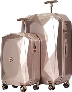 Women's 3D Gemstone TSA Lock Hardside Spinner Luggage,...