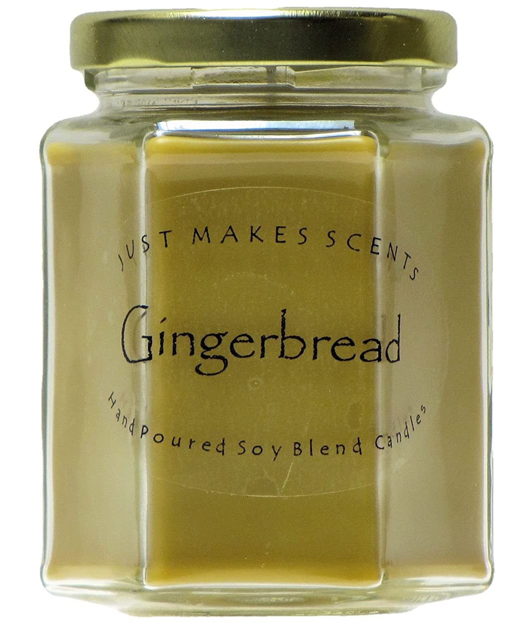 放散する乳剤招待Gingerbread香りつきBlended Soy Candle by Just Makes Scents