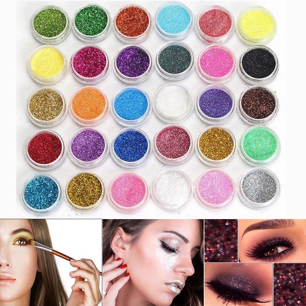Neverland 30 Colores Pequeño y Redondo en Lata Sombra de Ojos en Polvo Maquillaje Sombra de Ojos Brillo