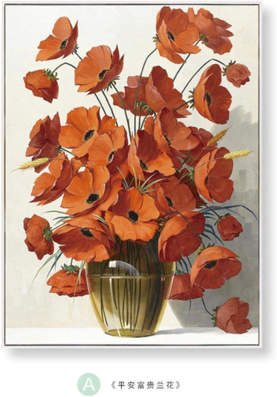 SHPXMBH Dipinti su Tela Wall Art Moderno Minimalista Decorazione Floreale Pittura Camera da Letto Comodino Portico Corridoio Astratto Corridoio Appeso 3 Pezzi 20x30 cm Senza Cornice