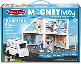 Melissa & Doug Magnetivity Magnetic Tiles Building Play Set – Hospital