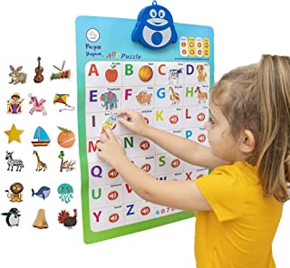 2-in-1 Interactive Alphabet Poster for Kids | Electronic Preschool Educational Toys | Children Learning Puzzle | Toddler W...