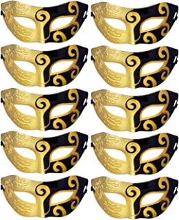 Unisex Retro Masquerade Mask Mardi Gras Costume Party Acccessory (pack of 10)