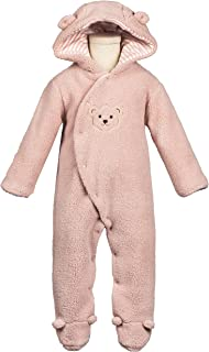 COTTON FAIRY Baby Girl Winter Clothes Cartoon Bear Fleece Hoodie Romper