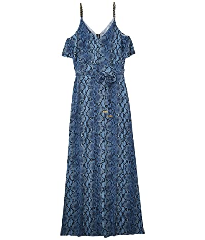 MICHAEL Michael Kors Saturated Snake Chain Maxi (Chambray) Women