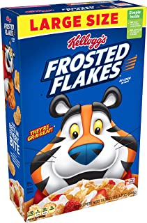 Kellogg's Breakfast Cereal, Frosted Flakes, Fat-Free, 19.2 Oz