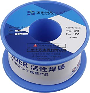 ZSHX 60/40 Tin Lead Rosin core solder wire for electrical soldering (0.6mm 100g)