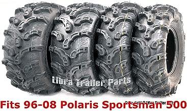 Full Set Super Lug Mud ATV tires 25x8-12 & 25x11-10 fit for 96-08 Polaris Sportsman 500