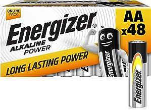 Energizer AA Batteries, Alkaline Power Double A Batteries, 48 Pack
