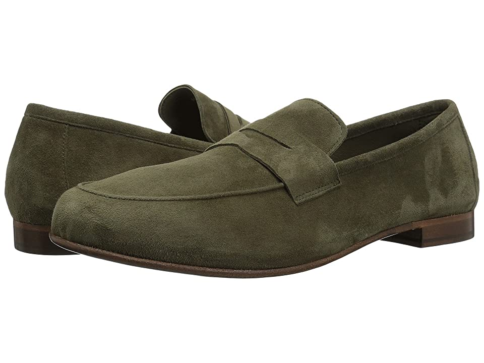 Massimo Matteo Suede Penny Loafer (Green Suede) Men