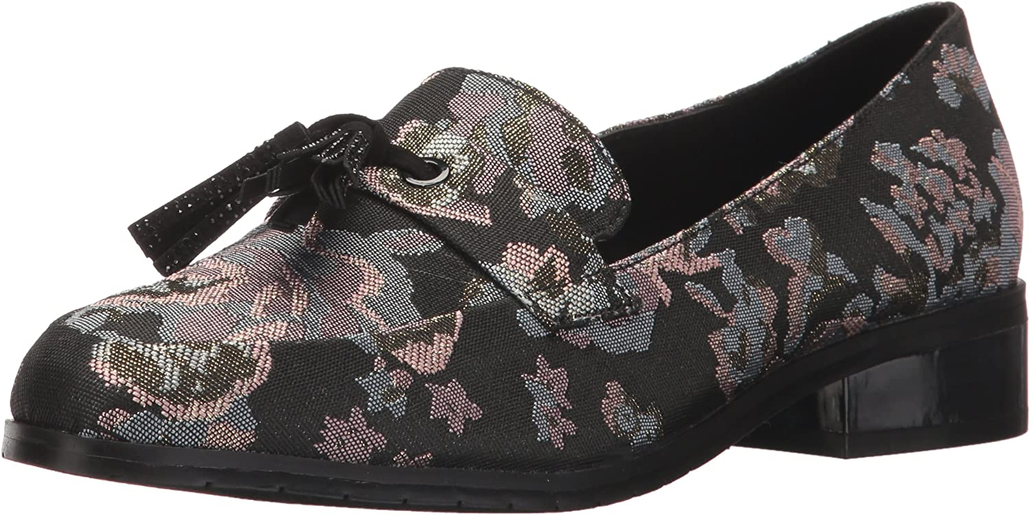 Kenneth Cole REACTION Womens Jet Ahead Dress Loafer with Tassel Detail Fabric Slip-On Loafer