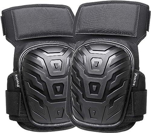 Knee Pads, Preciva Professional Gel Knee Pads for Work, Heavy Duty High Anti-Slip Straps and Double Gel Cushion Foam ...