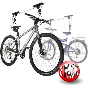 2004 2-Pack RAD Cycle Products Bike Lift Hoist Garage Mtn Bicycle Hoist 100LB Cap