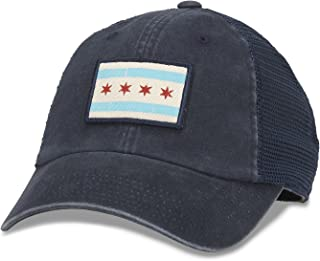 Badger Mesh Baseball Dad Hat Flag of Chicago, Navy (43260A-CHGO)