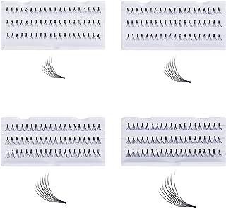 Kurtzy Individuele Wimper Extensions (4 Pak) – 8, 10, 12 en 14 mm Gemixte Lengte – Premium Kort en Lange Valse Cluster Wim...