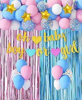 Baby Boy Girl Bunitng Garland Decor -8.5X5.5 Inch Burlap Banner Pregannacy announcement Baby Shower Party Decorations//Gender Reveal Party Supplies//Welcome Baby Party Supplies Oh Baby Banner