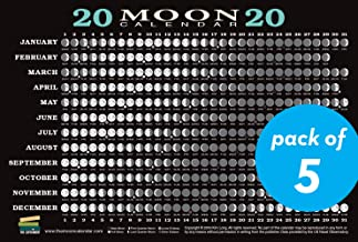2020 Moon Calendar Card (5 pack): Lunar Phases, Eclipses, and More!