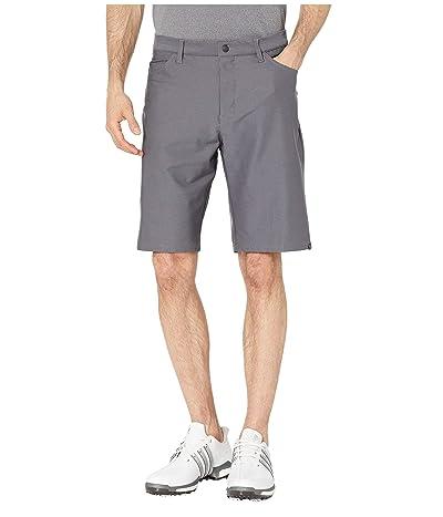 adidas Golf Ultimate Heather Five-Pocket Shorts (Grey Three Heather) Men