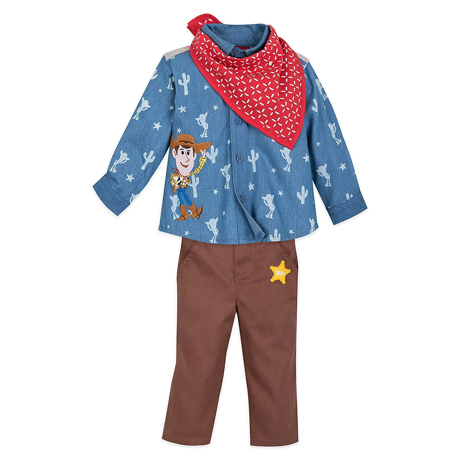 Disney Woody Shirt and Pants Set for Baby Size 12-18 MO Multi