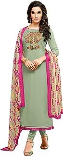 Oomph! Women's Unstitched Cotton blend Salwar Suit Dupatta Material (Mint Green)