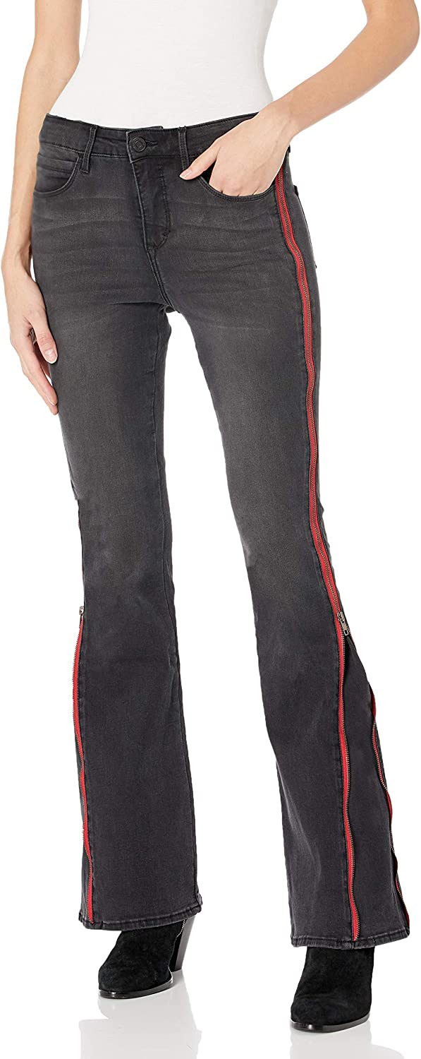 Skinnygirl Women's Fixed price for OFFicial sale Power Moves High Jean Flare Zip Rise