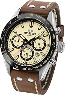 TW Steel ' Chrono Sports' Quartz Stainless Steel and Silicone Casual Watch, Color:Brown (Model: CHS2)