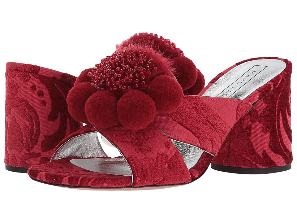 Marc Jacobs Aurora Pompom Mule (Red) Women