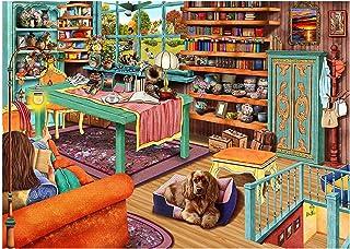 HUADADA Puzzle 1000 Pièces Adultes Puzzle Classique La Vie avec Chats et Chiens Puzzle Adulte et Enfant (70x50cm)