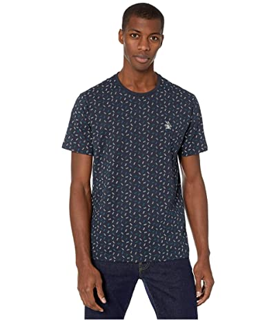 Original Penguin Ditsy Print T-Shirt (Dark Sapphire) Men