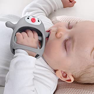Smily Mia Penguin Buddy Never Drop Silicone Baby Teething...