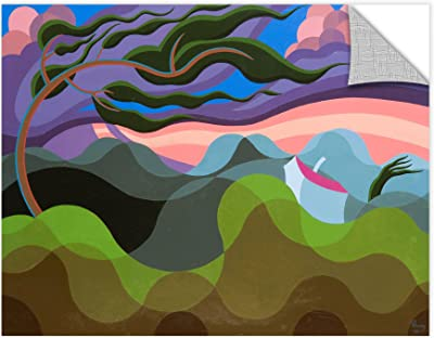 Emil Parrag's Tempest 1990B, Removable Wall Art Mural 14x18
