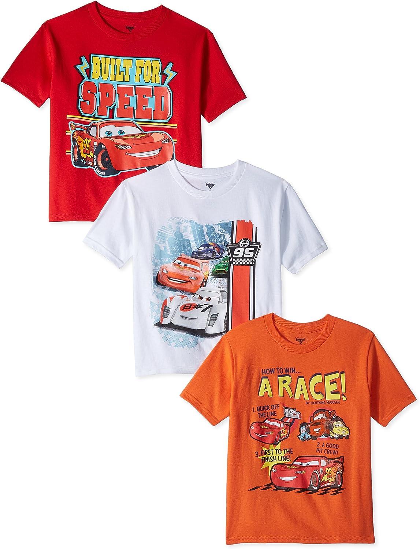 Disney Baby Boys' Toddler Cars Three-Pack T-Shirt