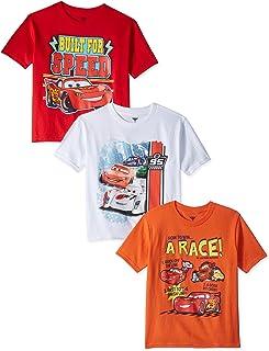 تی شرت سه بسته اتومبیل های کودک نو پا پسرانه دیزنی