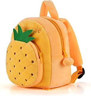 Gloveleya Fruit Series Plush Kid's Backpack Shoulder Bag School for Kids Children 12'' (Yellow pineapple)