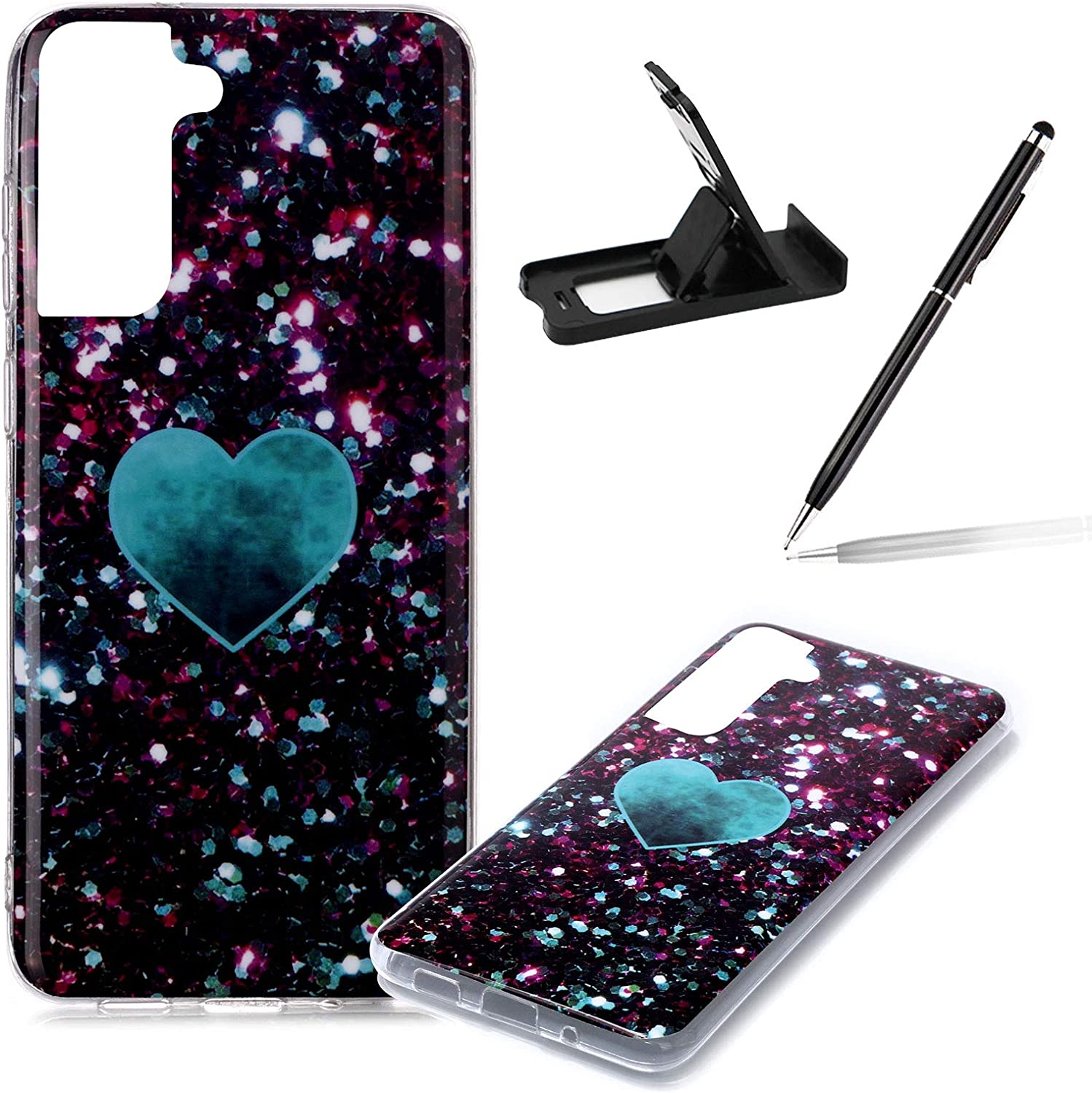 Herzzer Marble Cellphone Case for S21 5G Samsung Stylish Galaxy Ranking TOP6 Price reduction