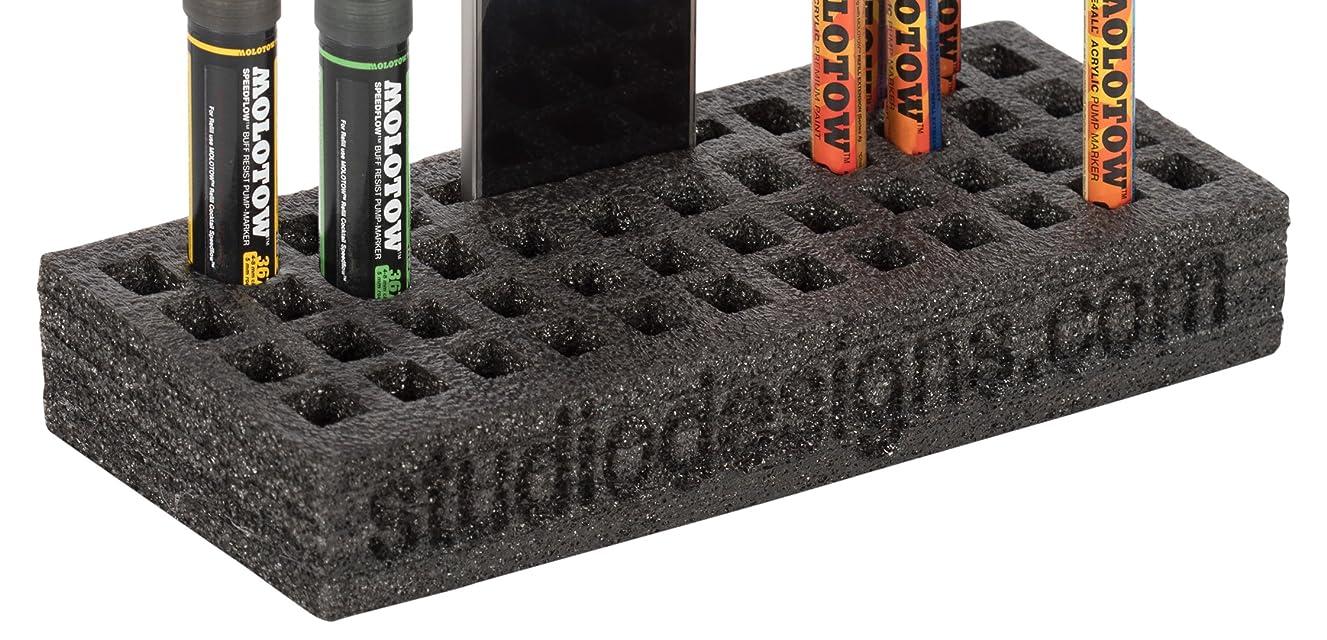 SD STUDIO DESIGNS Modern Flexible Foam Table Top Organizer for Markers 2 Pk, 15 mm Slots