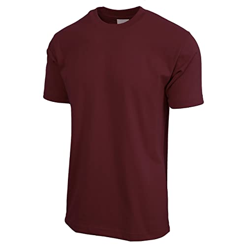 e658a3e2 Hat and Beyond Mens Super Max Heavyweight Cotton T Shirt Solid Short Sleeve  Tee S-