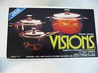 Corning Visions 6 Piece Cookware Set Amber