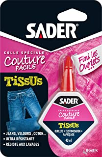 "Sader Colle pour Tissus ""Finis les Ourlets"" - Flacon 40 ml"
