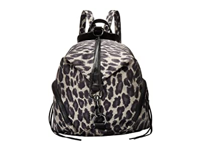 Rebecca Minkoff Julian Nylon Backpack (Leopard) Backpack Bags