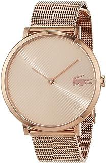 Lacoste 2001028 Moon Reloj analógico de cuarzo, con correa de acero y caja de color oro rosa, 35 mm, para mujer