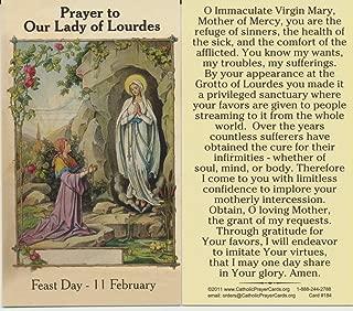 Saint Bernadette Our Lady of Lourdes Holy Card Free Cross Bookmark