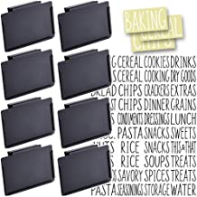 Talented Kitchen 8 Black Clip Label Holders w/ 40 Pantry Labels. Pantry Organization Solution Baskets and Boxes. Removable...