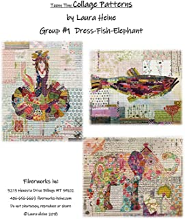 Fiberworks Inc. Teeny Tiny Collage Patterns Group #1 Applique by Laura Heine from 16