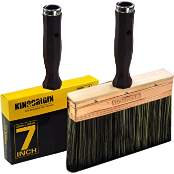 Deck Stain Brush by Kingorigin 7 Inch Block Brush, Paint Brush Heavy Duty Professional Stain Brush,Double Thick 1.2 inch,Fence Brush,Paint Brush for Walls