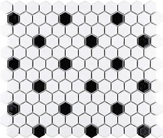 Grey Hexagon Bathroom Floor